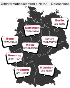 Giftinformationszentren (Giftnotrufzentren) in Deutschland