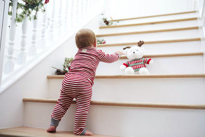 Treppen und Stiegen als Gefahrenquelle für Babys